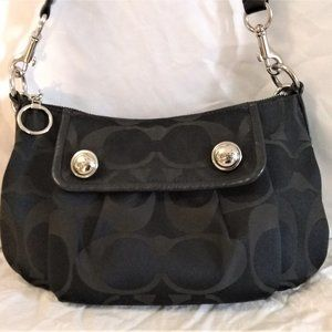 Coach Signature Poppy 13833 Black Cross Body Bag